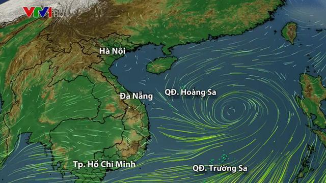 Xuất hiện vùng áp thấp trên Biển Đông, mưa lớn kéo dài