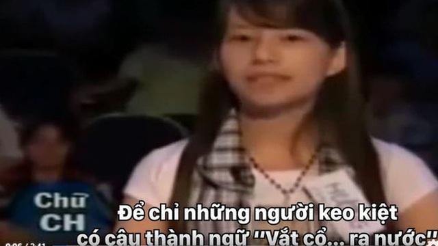 10 năm trước cô gái này lỡ nói sai 1 câu thành ngữ trên sóng VTV3, khiến cả MC lẫn khán giả chê cười ngượng tím mặt