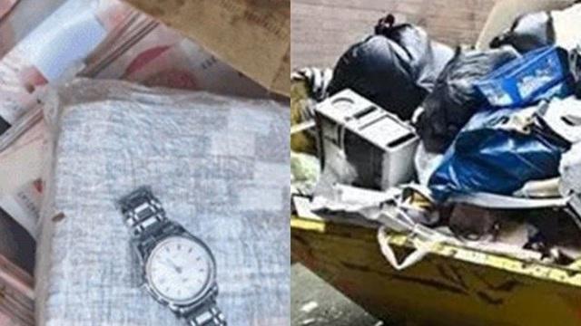 Dọn rác ven sông, nhặt được túi chứa đầy tiền và đồng hồ cao cấp