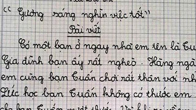 Cậu nhóc lớp 4 làm văn tự kể về chính mình, đọc đoạn kết lầy đến mức khiến cả cô giáo lẫn dân mạng ôm bụng cười lăn