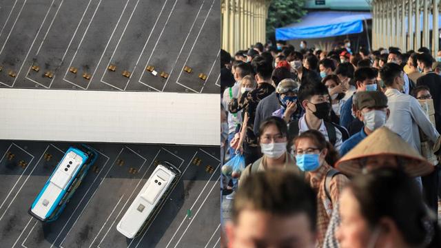 Cảnh đối lập ở bến xe, đường phố Hà Nội trước dịp nghỉ lễ 2/9 năm nay và năm ngoái