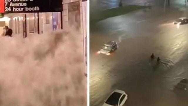 Chùm ảnh New York lũ lụt kinh hoàng do bão Ida, nước đục ngầu như... Milo phủ toàn thành phố