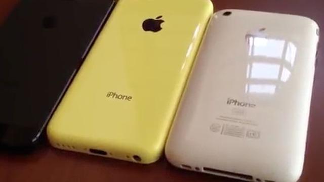 """Lộ diện video """"trên tay"""" vỏ iPhone giá rẻ màu vàng"""