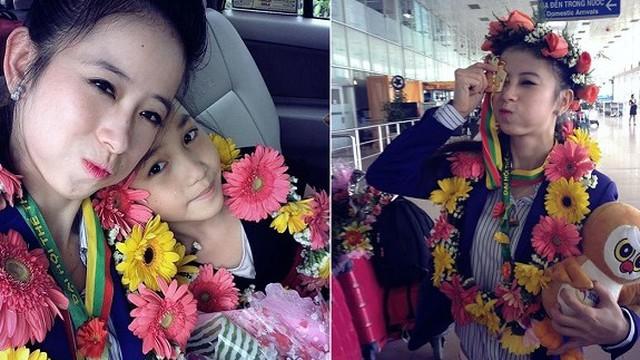Hoa khôi taekwondo Châu Tuyết Vân khoe rạng rỡ ngày trở về