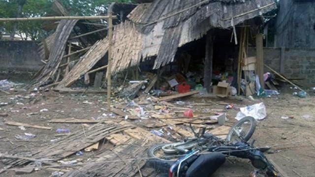 Chồng ôm mìn tự sát chết tại chỗ, vợ và 2 con bị thương nặng