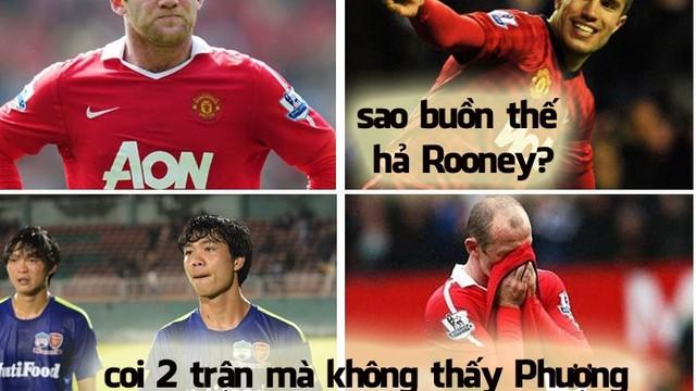 Ảnh vui: Công Phượng buồn, Rooney cũng buồn theo