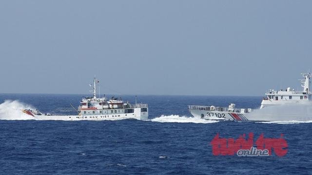 Từ Hoàng Sa: Tàu hải cảnh TQ đâm hỏng mạn tàu Cảnh sát biển VN