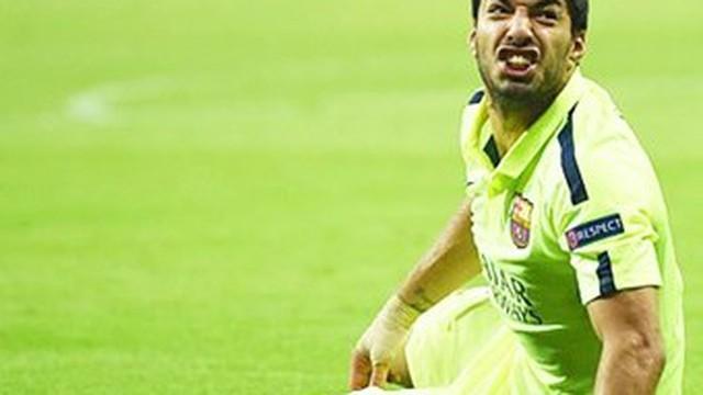 Barca nhận hung tin Suarez dính chấn thương gân khoeo