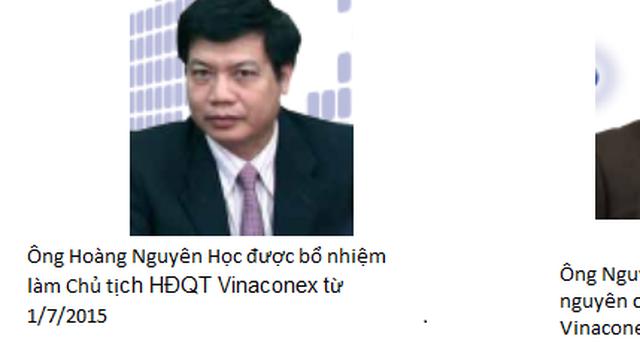 Phó Tổng Giám đốc SCIC làm Chủ tịch HĐQT Vinaconex