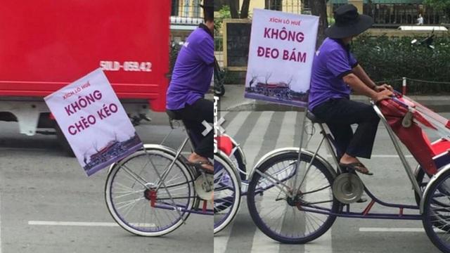 Những chiếc xích lô lạ lùng xuất hiện trên đường phố Huế