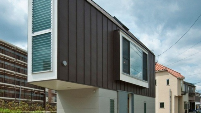 Choáng với kiến trúc của ngôi nhà mỏng đến không tưởng tại Nhật