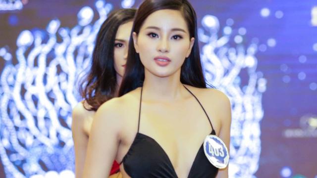 Cận cảnh màn thi bikibi nóng bỏng của dàn người đẹp Hoa hậu Đại dương 2017