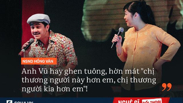 """NSND Hồng Vân: """"Anh Vũ là em nhưng tôi coi như con trai lớn"""""""