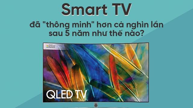 """Smart TV đã """"thông minh"""" hơn cả nghìn lần sau 5 năm như thế nào?"""