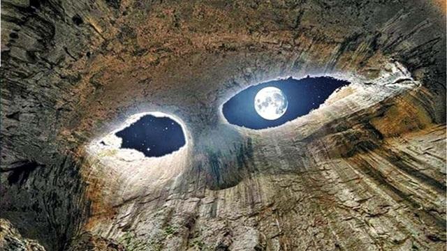 """Bí ẩn """"đôi mắt thần"""" kỳ lạ xuất hiện ở hang động Bulgaria"""