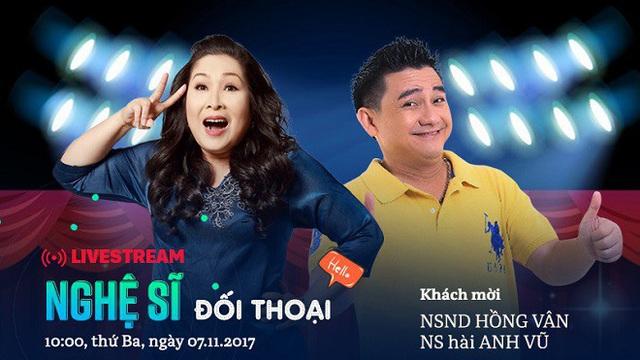 10 giờ sáng mai: Livestream với NSND Hồng Vân - nghệ sĩ hài Anh Vũ