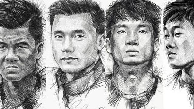 """Trọn bộ tranh ký họa dàn cầu thủ """"cực phẩm"""" U23 Việt Nam"""