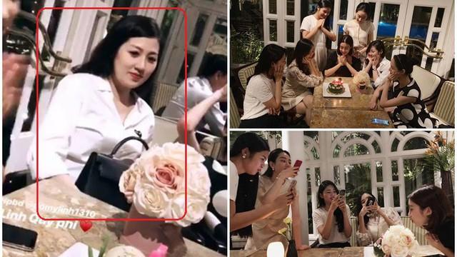 Các chị em hoa hậu tổ chức sinh nhật cho Mỹ Linh nhưng Á hậu Tú Anh lại gây chú ý hơn cả