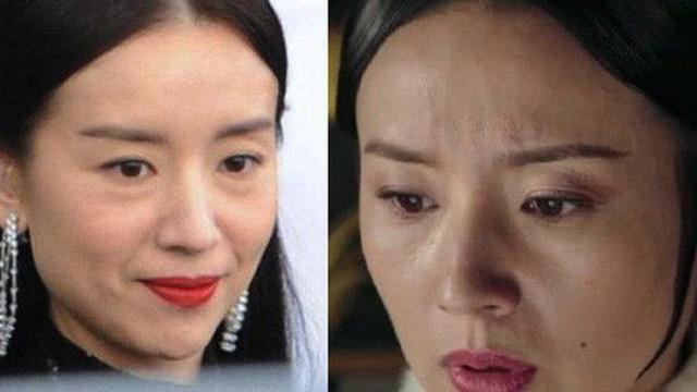 """Choáng với nhan sắc thật sự của """"hoàng hậu"""" Đổng Khiết: Da chảy xệ, gương mặt toàn nếp nhăn"""