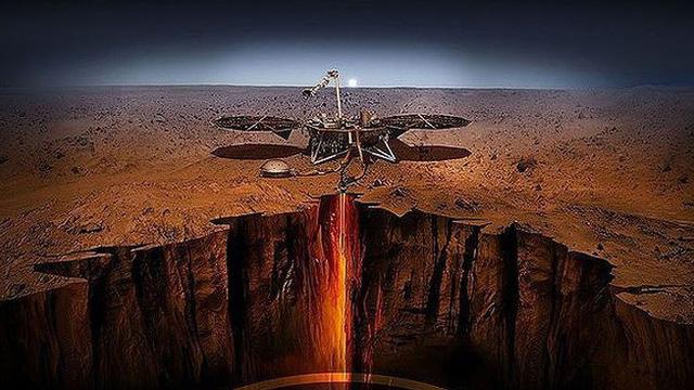 Hình ảnh rõ nét đầu tiên robot thám hiểm Insight gửi về từ sao Hỏa