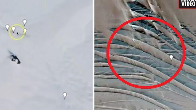"""Google Earth tiết lộ cấu trúc lạ dưới băng, nghi vấn """"hầm ngầm"""" của người ngoài hành tinh"""