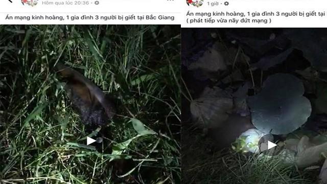 Vụ thảm án 3 người trong gia đình bị giết ở Bắc Giang là tin sai sự thật