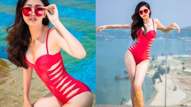 Ảnh bikini nóng bỏng của Hoa hậu Đỗ Mỹ Linh và 2 nàng Á hậu