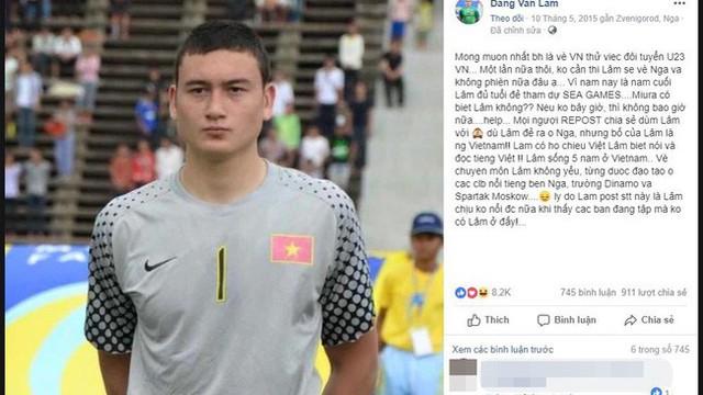 """Chuyện bây giờ mới kể: Thủ thành số 1 Việt Nam Lâm Tây từng """"năn nỉ"""" xin vào tuyển quốc gia như thế này"""