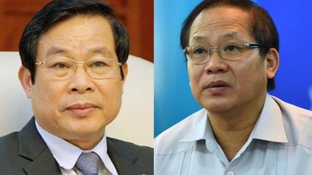 Khai trừ Đảng hai cựu Bộ trưởng Nguyễn Bắc Son và Trương Minh Tuấn