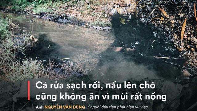 Nhân chứng kể việc phát hiện dầu thải đổ trộm xuống suối đầu nguồn nhà máy nước sông Đà