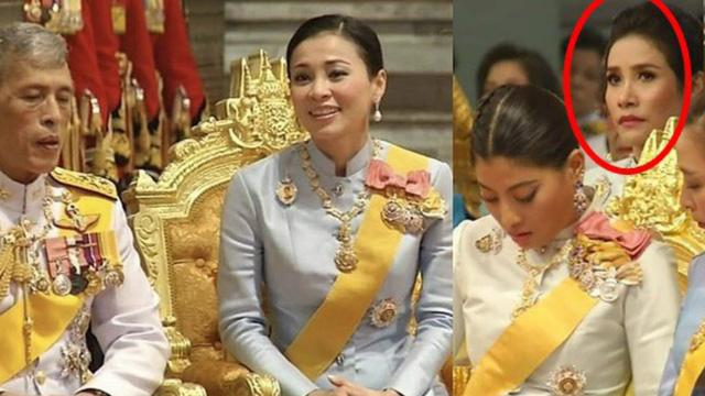 """Loạt ảnh """"lặng lẽ cau mày trong góc khuất"""" chứng minh cựu Hoàng phi Thái Lan vốn đã bị thất sủng từ lâu?"""