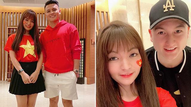 Bạn gái hot girl của Mạc Văn Khoa phấn khích khi đứng cạnh Lâm Tây, Quang Hải