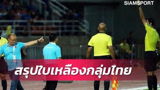 """Báo Thái Lan gọi tình huống HLV Park Hang-seo bị phạt thẻ vàng là """"kịch bản thú vị"""""""