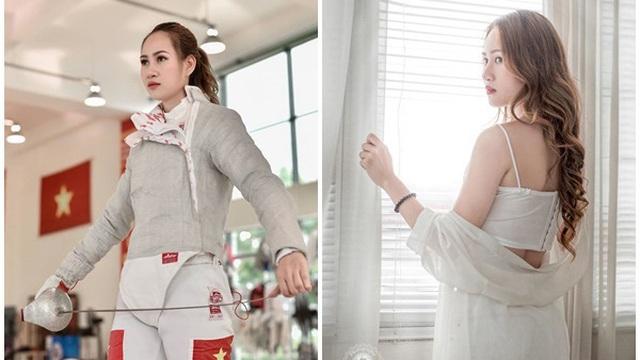 """Nữ VĐV đấu kiếm Việt Nam cực """"hot"""" tại SEA Games 30: Tài năng và sở hữu ngoại hình quyến rũ"""