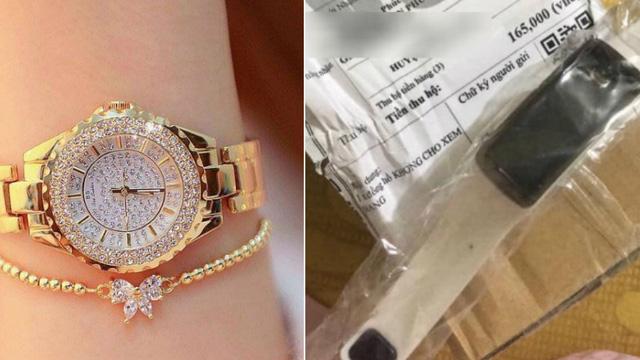 Đặt mua đồng hồ sang chảnh, nhận về đồng hồ nhựa, cô gái lên mạng than liền bị mắng vì một lý do