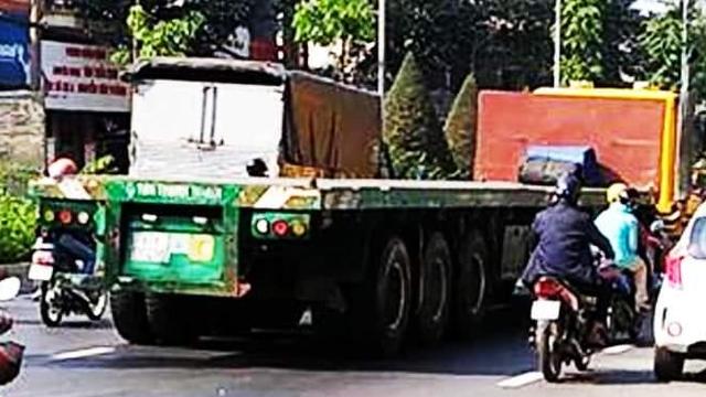 Va chạm với xe container, thiếu uý công an tử vong tại chỗ trên đường đến đơn vị