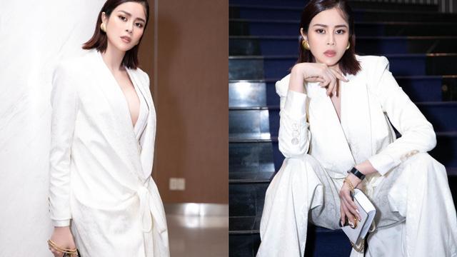 Sella Trương mặc cá tính đi xem triển lãm thời trang