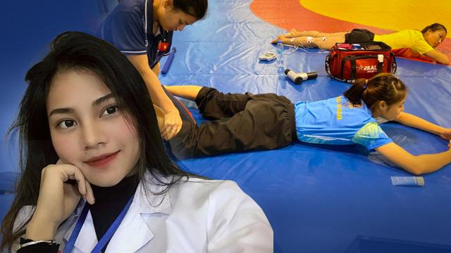 """Nữ bác sĩ xinh đẹp Việt Nam đến SEA Games 30: """"1 ngày làm việc có khi kéo dài 17 tiếng"""""""