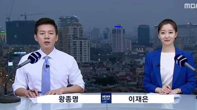 Nữ MC Hàn xinh đẹp tác nghiệp trên nóc khách sạn Daewoo gây sốt Việt Nam nổi tiếng ra sao?