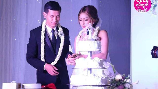 Messi Myanmar lên xe hoa, cưới nàng MC - diễn viên đẹp như mộng