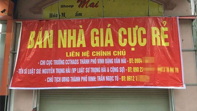 """Vụ rao bán nhà trên """"đất vàng"""" đề tên Chủ tịch TP Vinh: Chủ nhà 2 lần đi tù"""