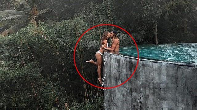 """Ảnh """"sống ảo"""" của cặp đôi travel blogger tưởng lãng mạn nhưng bị chỉ trích ngu ngốc, nhìn kỹ mới thấy nguyên nhân chết người"""