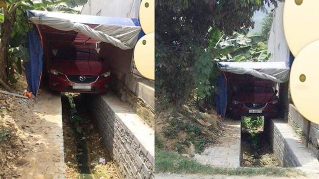 """Chỗ đỗ ô tô hiểm hóc khiến dân mạng bối rối: """"Tài xế lùi sao mà khéo thế?"""""""