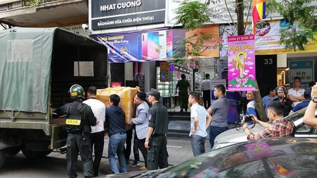 Khám xét chuỗi cửa hàng điện thoại Nhật Cường: Công an TP Hà Nội chỉ phối hợp tại chỗ
