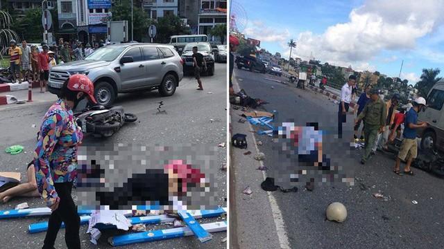 Cận cảnh hiện trường xe khách của nhà xe Đức Hùng gặp nạn khiến 5 người thương vong ở Quảng Ninh