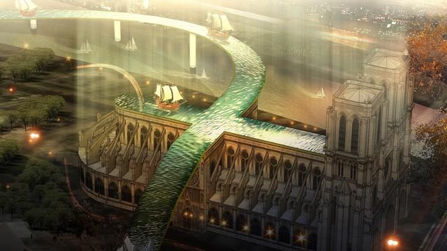 Đề xuất táo bạo của một công ty kiến trúc Việt trong việc khôi phục Nhà thờ Đức Bà