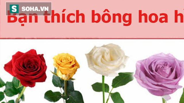 Bạn thích bông hoa nào? Màu sắc của chúng cũng tiết lộ cá tính con người bạn