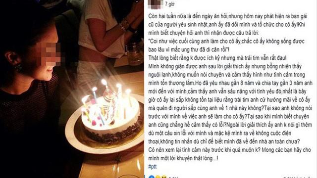Chồng sắp cưới lén tổ chức sinh nhật cho người yêu cũ, lời giải thích khiến cô gái không thể giận
