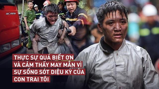 Lời cảm ơn của ông bố gửi chiến sỹ cảnh sát PCCC dũng cảm lao vào đám cháy cứu con trai mình