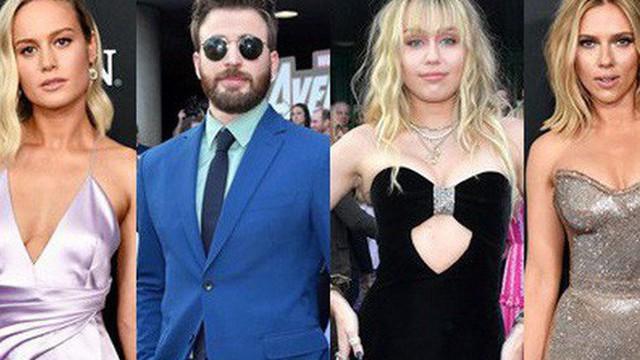 """Siêu thảm tím """"Avengers: Endgame"""" hot nhất 2019: Dàn sao Marvel sang chảnh, vợ chồng Miley Cyrus chiếm trọn spotlight"""
